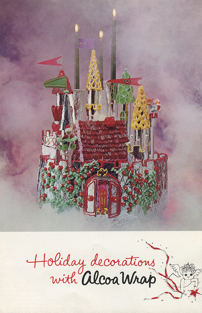 """Cover of a """"Holiday decoration with Alcoa Wrap"""" booklet, c. 1965. Alcoa Company Records, MSS 282, Detre Library & Archives at the History Center."""