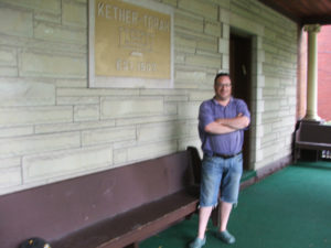 ALT:Michael M Milch on the porch of the Ketter Torah Synagogue around 2010. | Your #Pixburgh Photo Album | #Pixburgh: A Photographic Experience