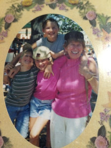 ALT:Nina Kissell, her sister, brother, and grandmother at Kennywood Park, c. 1994. | Your #Pixburgh Photo Album | #Pixburgh: A Photographic Experience