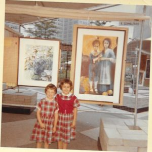 ALT:Peg Bittner and her younger sister Janet, Three Rivers Arts Festival, 1960s. | Your #Pixburgh Photo Album | #Pixburgh: A Photographic Experience