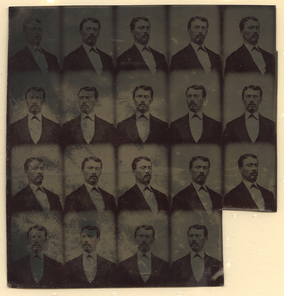 Sheet of uncut gem tintypes, c. 1870 | Courtesy of the National Museum of American History, Smithsonian Institution. | #Pixburgh: A Photographic Experience
