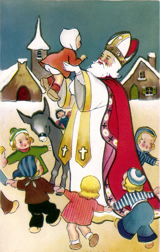 This St. Nicholas Day card is from Belgium. Image courtesy of The St. Nicholas Center.