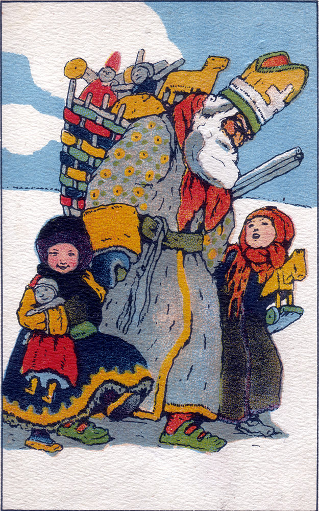 This St. Nicholas Day card is from Hungary. Image courtesy of The St. Nicholas Center.