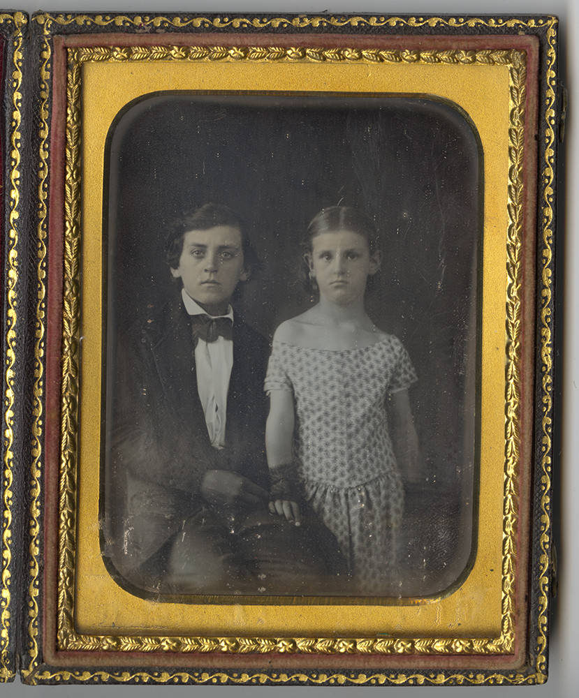 Daguerreotype of William George Hawkins, Jr., and his sister Mary Margaretta, 1850s. | #Pixburgh | Heinz History Center.