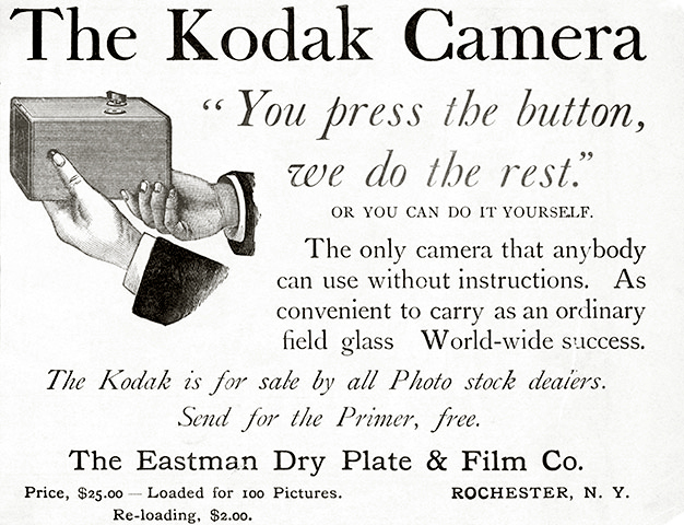Advertisement for the Kodak box camera, c. 1880s. Courtesy of the Eastman Museum.