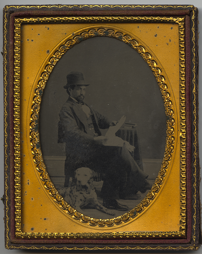 Bishop Benjamin Tucker Tanner and his Dalmatian, 1860s. Heinz History Center.