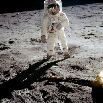Buzz Aldrin on the moon | Destination Moon: The Apollo 11 Mission | Heinz History Center