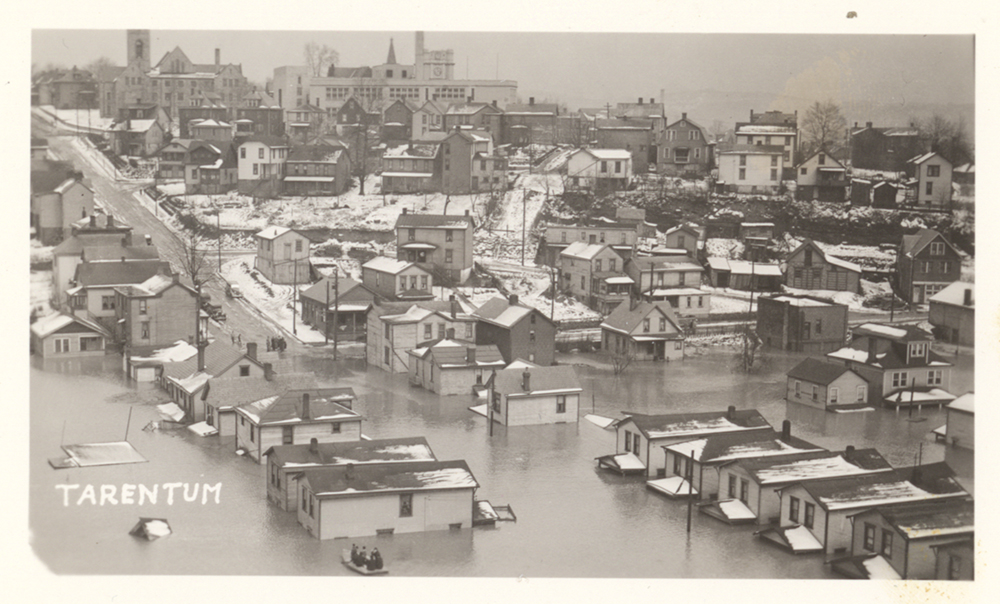 Postcard of Tarentum, Pa., 1936 flood. | St. Patrick's Day Flood | Heinz History Center