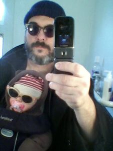 ALT:Chad Hunter and daughter Georgina Hunter, who was 3 mos. old at the time, Jan. 11, 2011, Elysian St. in Point Breeze.   Your #Pixburgh Photo Album   #Pixburgh: A Photographic Experience