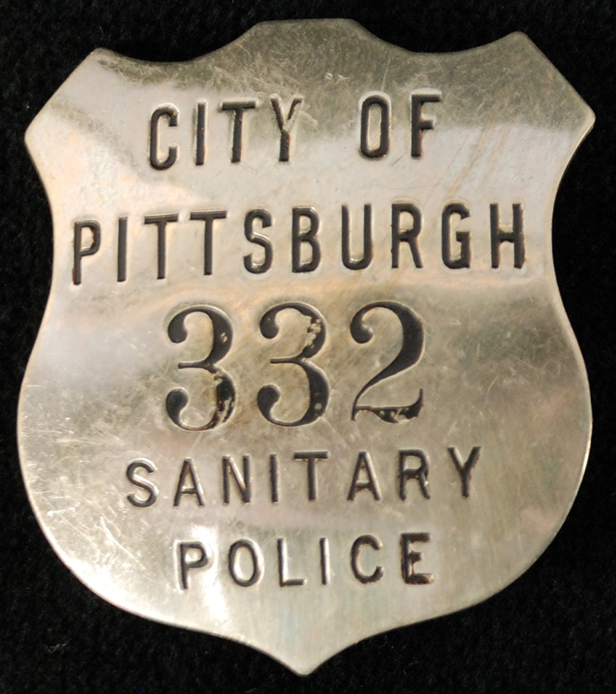 Officer badge, City of Pittsburgh Sanitary Police, 1910s. | Heinz History Center