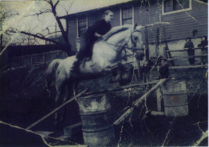 ALT:Patricia Orgill and Milt Selznick around 1948, English Lane Stables in Squirrel Hill, near what is now called Blue Slide Park, off Beechwood Boulevard. | Your #Pixburgh Photo Album | #Pixburgh: A Photographic Experience