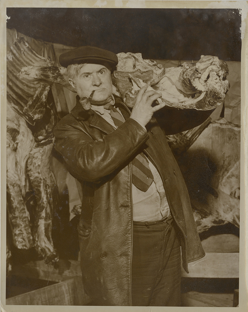 Ray Sprigle in disguise as a butcher. | Ray Sprigle Papers and Photographs Detre Library & Archives at the History Center.
