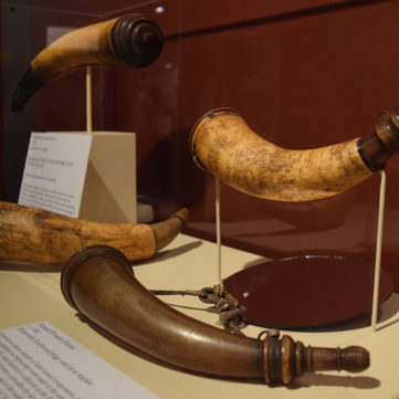 Turned Powder Horns | From Maps to Mermaids: Carved Powder Horns in Early America | Fort Pitt Museum