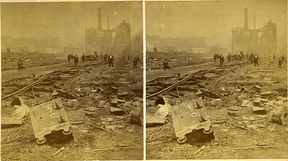 "S. V. Albee, ""No. 33. Rear of Union Depot extended to this point,"" 1877. 