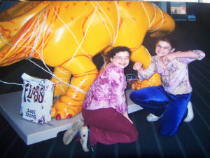 ALT:Becca and Kayla Burris with Dental Dinosaur, Convention Center, 2003. | Your #Pixburgh Photo Album | #Pixburgh: A Photographic Experience