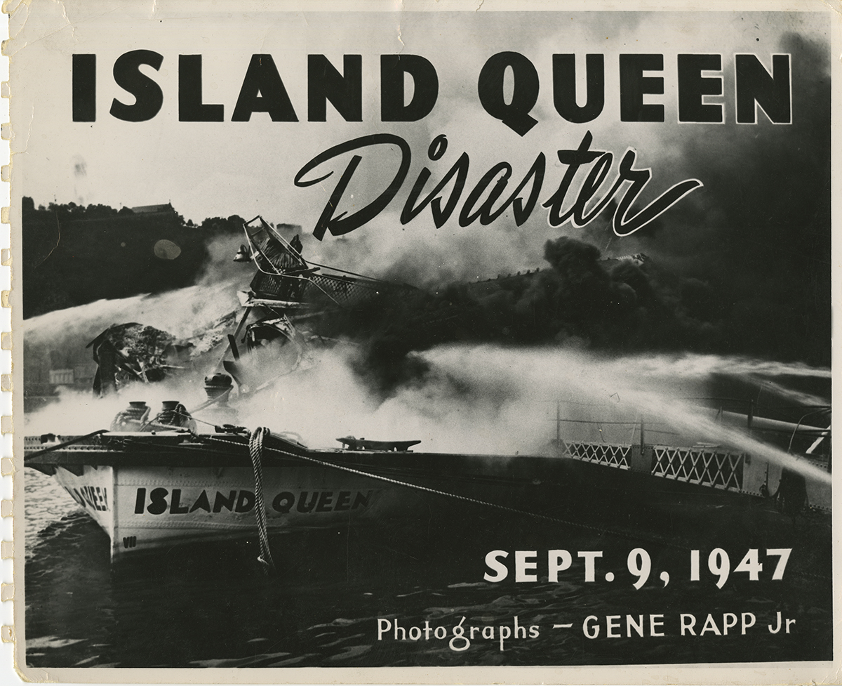 Pittsburgh photographer Gene Rapp, Jr., created his own photo book featuring dramatic images of the disaster. | Heinz History Center