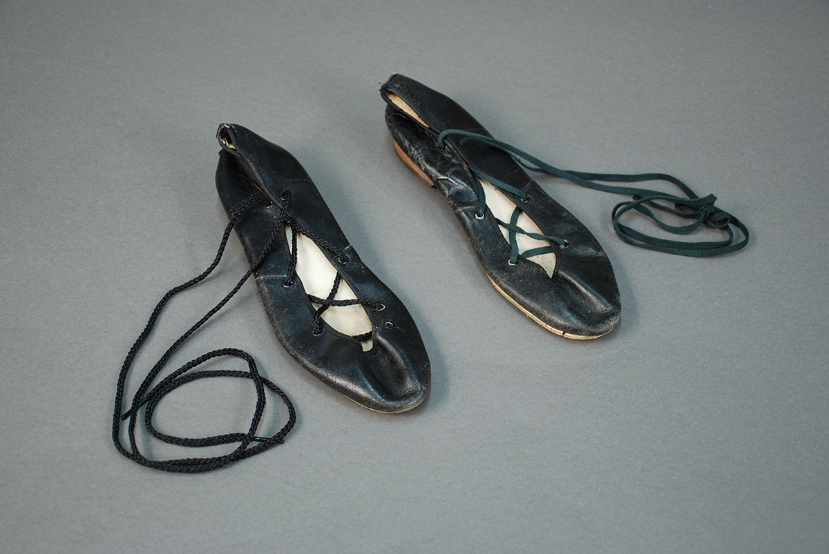 Mary Ferro's dance shoes, 1980s. Heinz History Center Collections, gift of Mary Ferro.