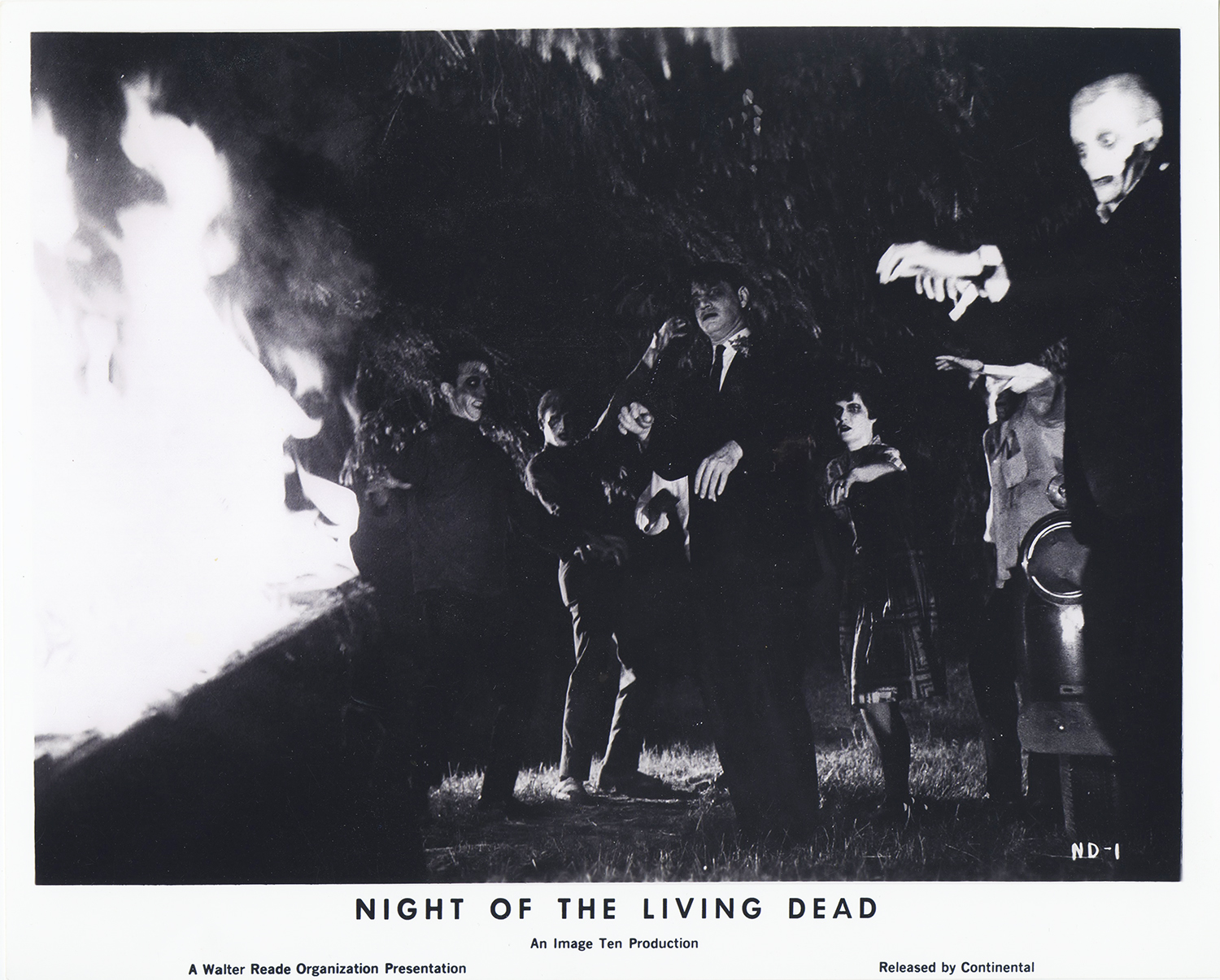 Still from George Romero's Night of the Living Dead. From the Leland Hartman Papers and Photographs, MSS 896, Detre Library & Archives at the History Center.