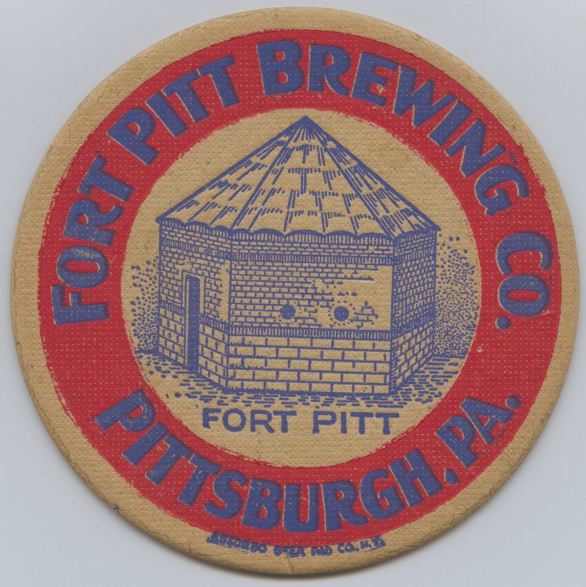 Coaster for the Fort Pitt Brewing Company, 1935. | Heinz History Center