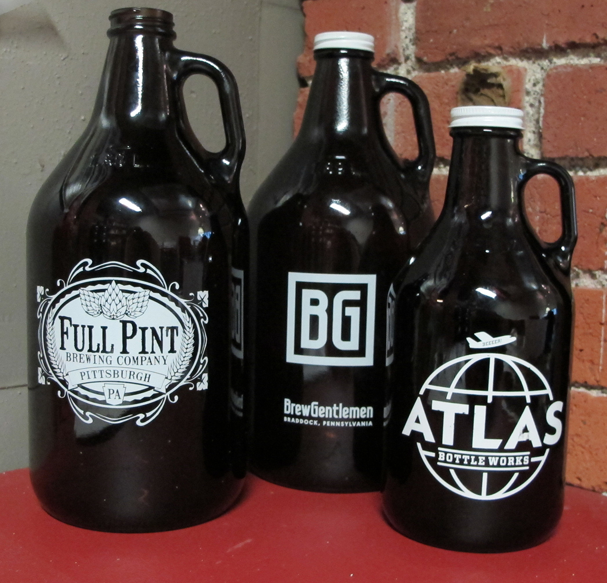 Growlers are one of many objects representing the increasingly diverse craft beer in the Pittsburgh region.
