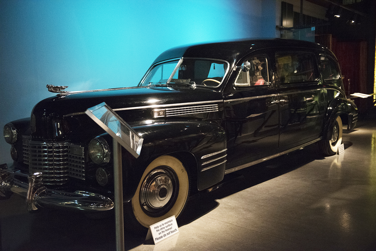 Gaines Funeral Home hearse, Cadillac, 1941. | Special Collections Gallery at the Heinz History Center