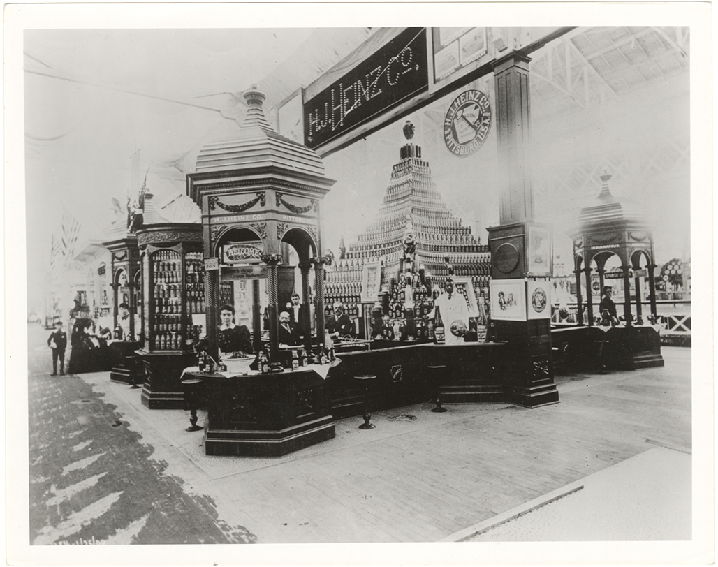The H.J. Heinz Company's grand display at the World's Columbian Exposition in 1893. | Heinz History Center