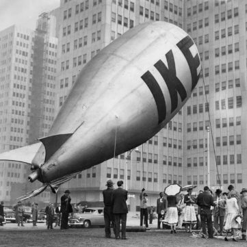 Ike's balloon grounded, October 27, 1952 | Eyes of Pittsburgh | Exhibits | Heinz History Center