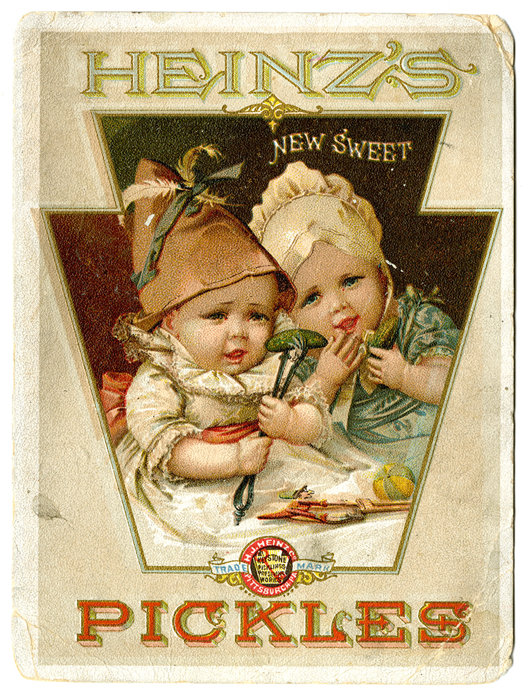 Heinz trading cards, c. 1895. Gift of the H. J. Heinz Company.