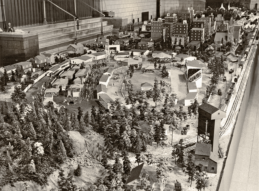 The Christmastown miniature village at the Buhl.