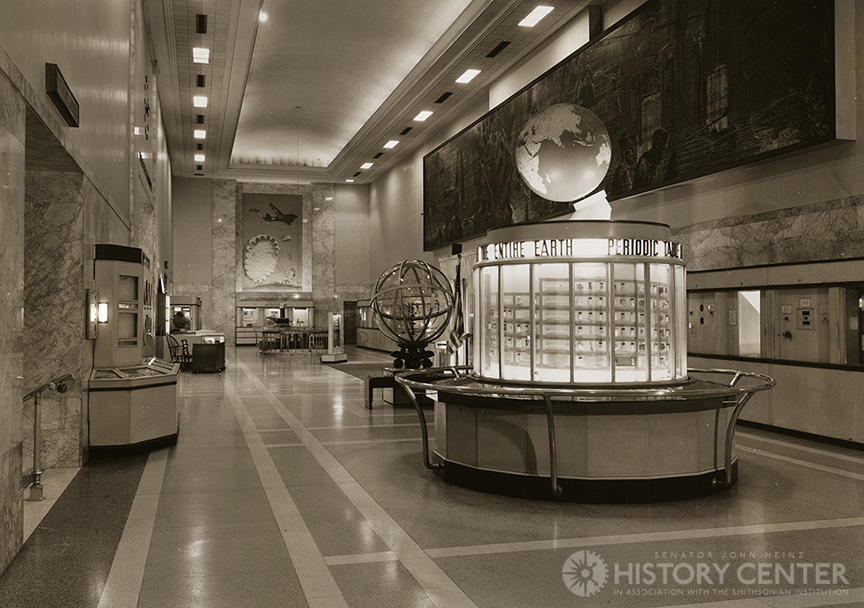 The Buhl's Main Hall featured a circular Periodic Table exhibit.