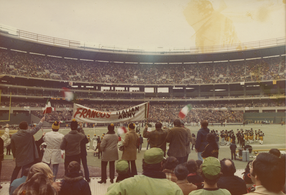 Franco's Italian Army cheers on the Steelers, December 23, 1972. | Heinz History Center