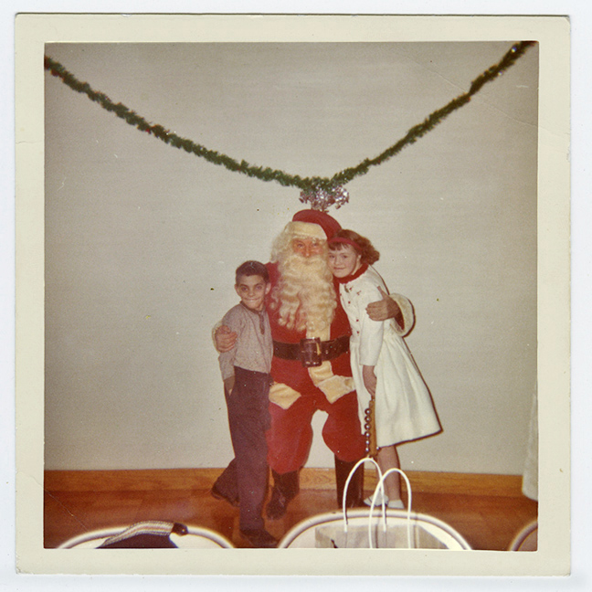 Heid as Santa at St. Anthony's, early 1960s. Photo courtesy of Jim Heid.