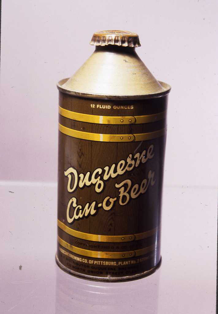 Duquesne Brewing Company Can-O-Beer, probably 1940s or 1950s. | Heinz History Center