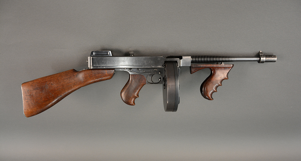Thompson Submachine gun, 1929. Senator John Heinz History Center collections. Photo: Nicole Lauletta.