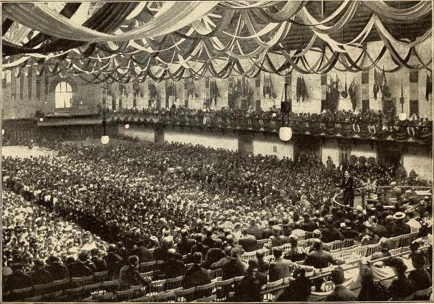 Thomas E. Murphy addressing Christian Endeavor Convention in Montreal, 1893.