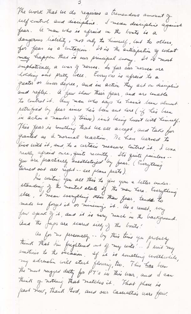 William Adelman's final letter to his wife, dated Dec. 1, 1944, page 3. William Ira Adelman Collection, Detre Library & Archives at the History Center.