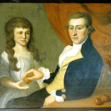 "Portrait of Dr. Felix and Anne Elizabeth ""Betsy"" Brunot, by Charles Willson Peale"