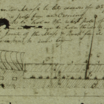 Sketch of Lewis & Clark's keelboat