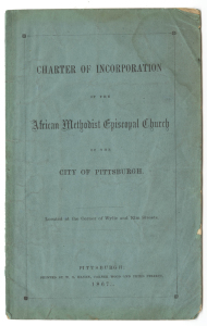 ALT:Charter: African Methodist Episcopal Church