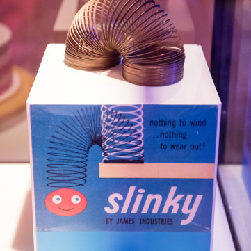 Slinky | Toys of the '50s, '60s and '70s exhibit at the Heinz History Center