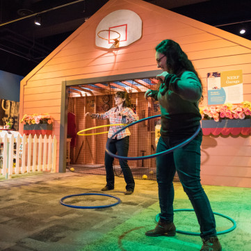 Hula Hoops | Toys of the '50s, '60s and '70s exhibit at the Heinz History Center