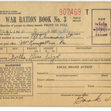 War Ration Book, We Can Do It! WWII