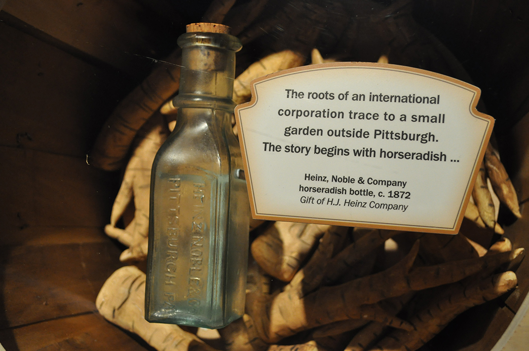 Horseradish bottle, Heinz, Noble & Company, Heinz Exhibit, Heinz History Center