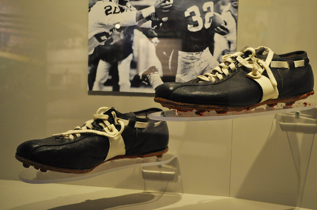 Franco Harris's Immaculate Reception shoes, Western Pennsylvania Sports Museum