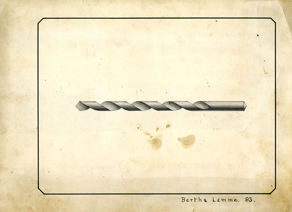 Drill Bit Drawing, Bertha Lamme