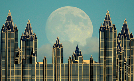 PPG Moon, by Bob Donaldson, September 27, 2014