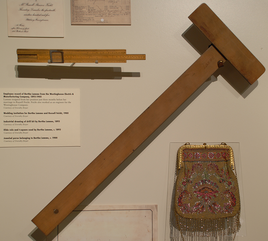 Bertha Lamme's Slide Rule & T-Square, c. 1893