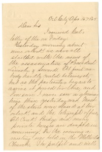 Edwin Dawson's letter, April 16, 1865