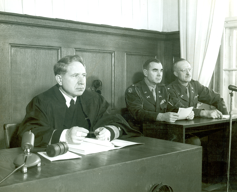 Judge Musmanno at Nuremberg