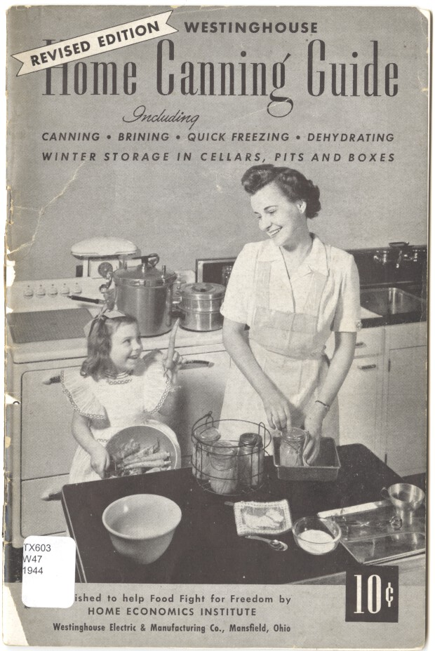 Westinghouse Home Canning Guide, 1944